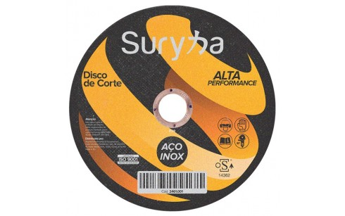 Disco de Corte com Rebaixe 230 X 1.9 X 22mm Inox | Suryha