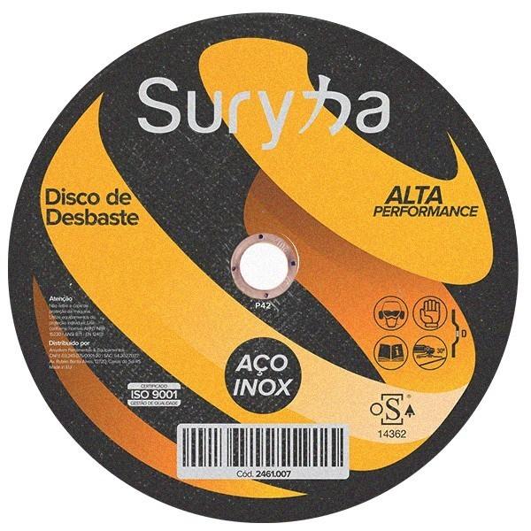 Disco de Desbaste 115 x 6,4 x 22,23 Suryha Inox