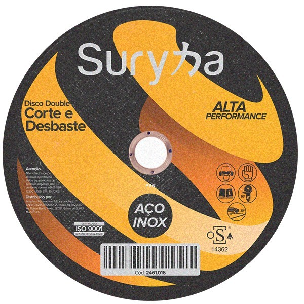 Disco Double de Corte e Desbaste 115 X 2.8 X 22mm | Suryha