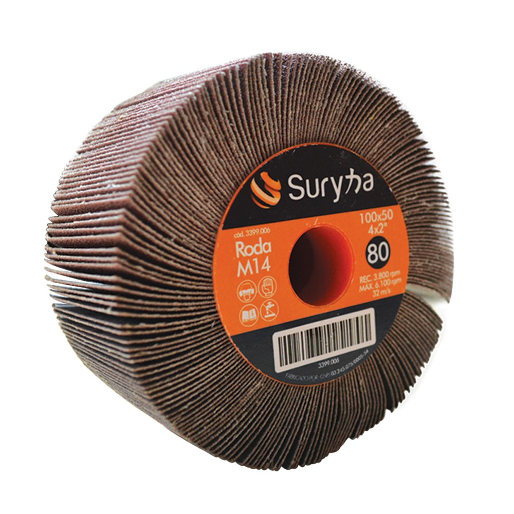 Roda de Lixa 100 x 50 Grão 60 M14 Suryha