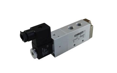 Válvula Direcional Eletropneumática Solenóide/Mola 5/2 G1/4 220VCA Belton